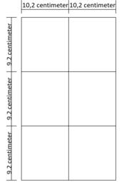 Lukos 6 vakken (horizontaal, voor iedere 4 ringsklapper)