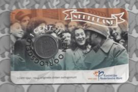 """Nederland 2020 serie 4 x '41, '42, '43 en '44 """"75 Jaar bevrijding"""" (1 cent zink, in coincard)"""