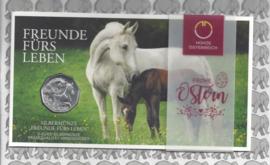 """Oostenrijk 5 euromunt 2020 (38e) """"Paarden, vrienden voor het leven"""" (zilver in blister)"""