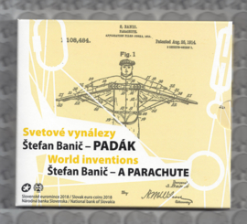 "Slowakije BU set 2018 ""World Inventions, Stefan Banic - A Parachute"""