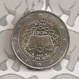 "Nederland 2 euromunt CC 2007 (1e)""Verdrag van Rome"""