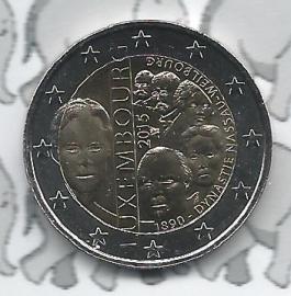 "Luxemburg 2 euromunt CC 2015 (18e) ""Dynastie"""