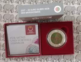"""Oostenrijk 25 euromunt 2017 """"Microkosmos"""" (Niob)"""