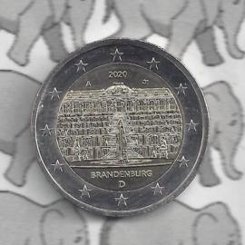 """Duitsland 2 euromunt CC 2020 """"Slot Sanssouci, (Brandenburg)"""" (letter A)"""