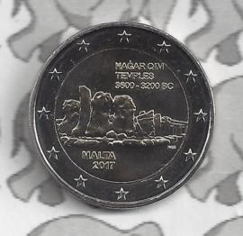"Malta 2 euromunt CC 2017 ""Tempels van Hagar Qim"" met Maltees muntteken (F)."