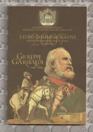 """San Marino 2 euromunt CC 2007 (4e)""""Garibaldi"""" (in blister)"""