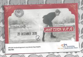 "Nederland 5 euromunt 2019 (44e) ""Jaap Eden vijfje"" (1e dag van uitgifte coincard in envelopje)"