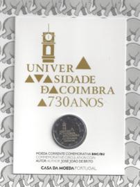 "Portugal 2 euromunt CC 2020 (24e) ""730e Verjaardag van de Universiteit van Coimbra"" BU in blister"