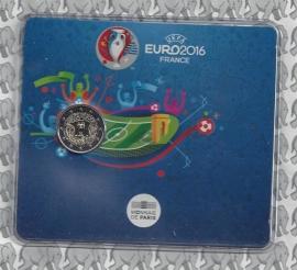 """Frankrijk 2 euromunt CC 2016 """"Europese Kampioenschappen Voetbal '16 in Frankrijk"""" , in blister"""