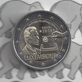 """Luxemburg 2 euromunt CC 2019 (26e) """"100 jaar na de invoering van het universieel kiesrecht"""""""