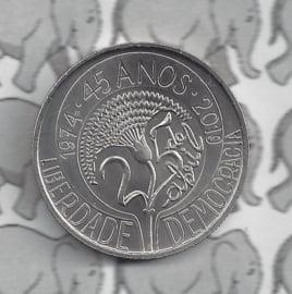 """Portugal 5 euromunt 2019 """"45 jaar van de anjerrevolutie"""""""