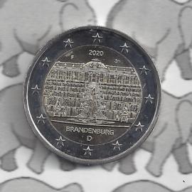 """Duitsland 2 euromunt CC 2020 (23e)""""Slot Sanssouci, (Brandenburg)"""" (letter D)"""
