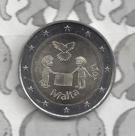 """Malta 2 euromunt CC 2017 """"Vrede"""""""