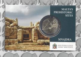 "Malta 2 euromunt CC 2018 ""Megalithische tempels van Mnajdra"", in coincard"
