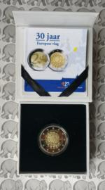 "Nederland 2 euromunt CC 2015 ""30 jaar Europese vlag"" proof"