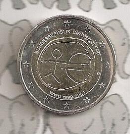 """Duitsland 2 euromunt CC 2009 """"EMU"""""""
