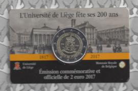 "België 2 euromunt CC 2017 ""Universiteit van Luik"" in coincard Franse versie"