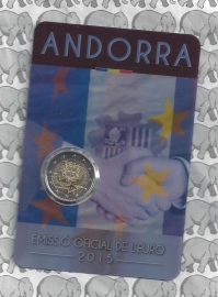 """Andorra 2 euromunt CC 2015 (2e)""""25e verjaardag van de ondertekening van de douaneovereenkomst met de Europese Unie"""" in coincard"""