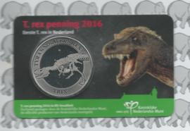 """Nederland coincard 2016 """"T-Rex"""" (penning)"""