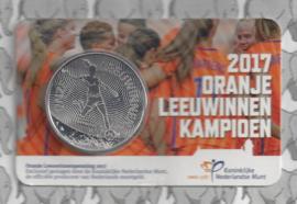 "Nederland coincard 2017 ""Oranje Leeuwinnen"" (penning)"