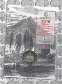 """Griekenland 2 euromunt CC 2016 """"150 jaar sinds de Holocaust in 't Arkadi Klooster op Kreta"""", in blister"""