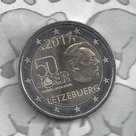 "Luxemburg 2 euromunt CC 2017 (21e) ""50 Jaar vrijwillige militaire dienst in Luxemburg"""