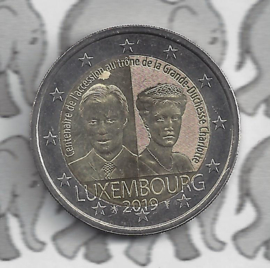 """Luxemburg 2 euromunt CC 2019 (25e) """"100 Jaar na de inauguratie van Groothertogin Charlotte"""""""