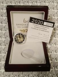 """Luxemburg 2 euromunt CC 2020 (28e) """"Geboorte van Erfprins Karel"""", proof in doosje met certificaat"""