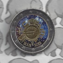 "Griekenland 2 euromunt CC 2012 ""10 jaar euro"" (kleur 2 x)"