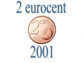 België 2 eurocent 2001