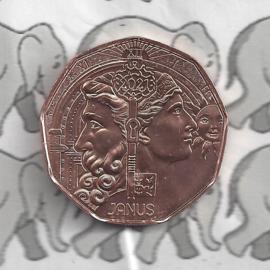 """Oostenrijk 5 euromunt 2020 (39e) """"Nieuwjaarsmunt 2021 Janus"""" (koper)"""