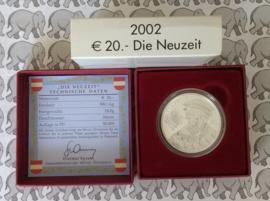 """Oostenrijk 20 euromunt 2002 """"Die Neuzeit"""""""