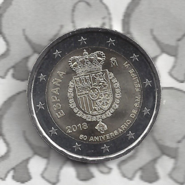 "Spanje 2 euromunt CC 2018 (16e)""50ste geboortedag van Koning Filipe VI"""