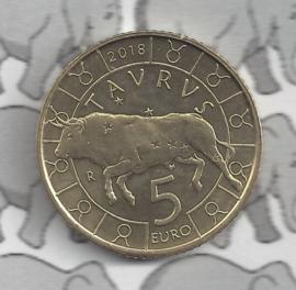 "San Marino 5 euromunt 2018 ""Horoscoop Stier"" (2 van 12)"