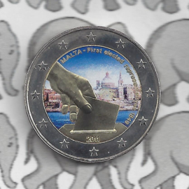 "Malta 2 euromunt CC 2011 ""Verkiezing Volksvertegenwoordiging"" (kleur 2 x)"