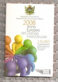 "San Marino 2 euromunt CC 2008 ""Dialogo"" (in blister)"