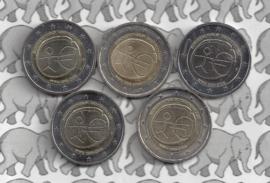 """Duitsland 2 euromunt CC 2009 """"EMU"""" (5 letters)"""