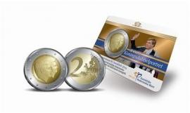 """Nederland 2 euromunt CC 2014 """"Koningsdubbelportret"""" BU versie in coincard"""