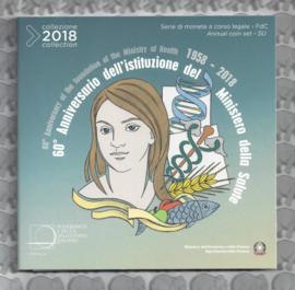 """Italië BU set 2018 """"60 jaar Ministerie van volksgezondheid"""" (9 munten)"""