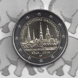 "Letland 2 euromunt CC 2014 (1e)""Riga — culturele hoofdstad van Europa voor 2014"""