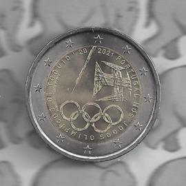 "Portugal 2 euromunt CC 2021 (27e) ""Deelname Olympische Zomerspelen van Tokio"""