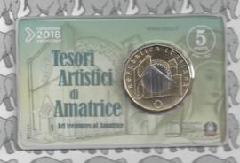 """Italië 5 euromunt 2018 """"Duomo di Amatrice"""" (in coincard)"""