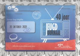 "Nederland 5 euromunt 2021 (48e) ""NOS Jeugdjournaal vijfje"" (1e dag van uitgifte coincard in envelopje)"