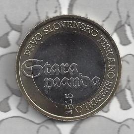 "Slovenië 3 euromunt 2015 ""500e verjaardag van de eerste geprinte Sloveense tekst"""