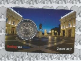 "Nederland 2 euromunt CC 2007 ""Verdrag van Rome"" in coincard 2e versie"