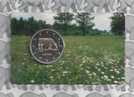 "Letland 2 euromunt CC 2016 ""Letse melkindustrie"" (in coincard)"