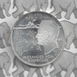 """Duitsland 20 euromunt 2019 (20e) """"250. Geburtstag Alexander von Humboldt"""", zilver"""