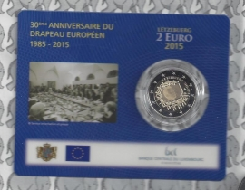 "Luxemburg 2 euromunt CC 2015 ""30 jaar Europese vlag"" (in coincard)"