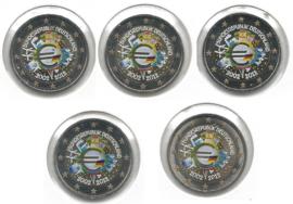 """Duitsland 2 euromunt CC 2012 """"10 jaar euro"""" (5 letters) (kleur)"""