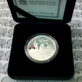 """Malta 10 euromunt 2014 """"100 jaar wereld oorlog 1"""" X"""